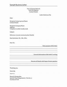 How To Write A Formal Letter Of Recommendation Formal Business Letter Format Templates Sample Example