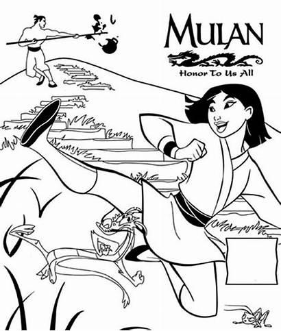 Mulan Coloring Pages Poster Honor Printable Disney