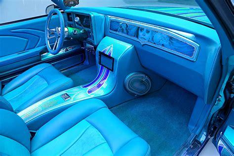 chevrolet monte carlo custom teal interior lowrider