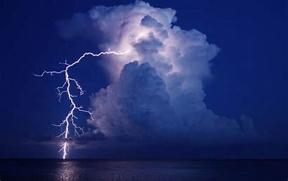 Lightning Sky Storm Clouds Rain Background Wallpapers