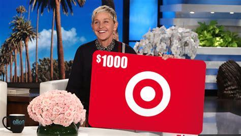 enter ellens  target gift card giveaway