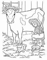 Milking Kidsplaycolor Coloring sketch template