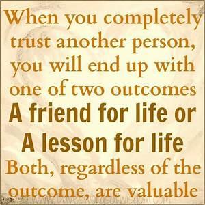 Trust Quotes Life Lessons. QuotesGram