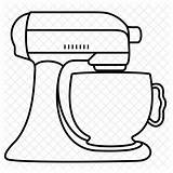 Mixer Kitchenaid Stand Drawing Kitchen Clipart Icon Aid Cartoon Cook Svg Electric Line Clip Transparent Text Getdrawings Household License Select sketch template