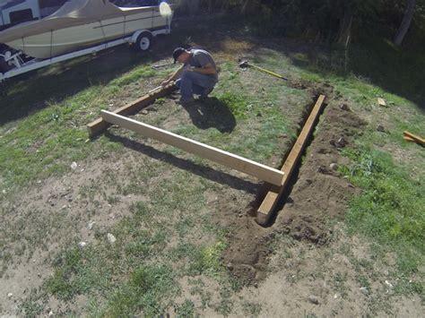 darmin building  shed foundation  sonotubes