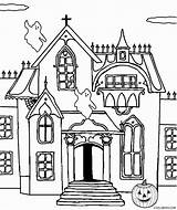 Coloring Haunted Castle Malvorlagen Cool Printable Spukschloss Ausmalbilder Spukhaus Pdf Halloween Coloringfolder Artikkeli Template sketch template