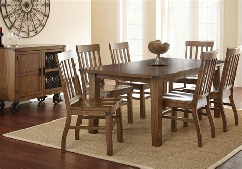 hailee antique oak extendable rectangular dining room set