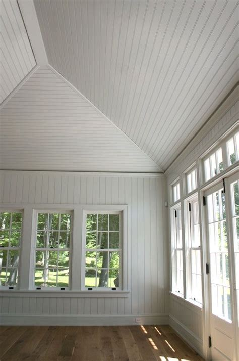 love  beadboard panels  vaulted ceiling