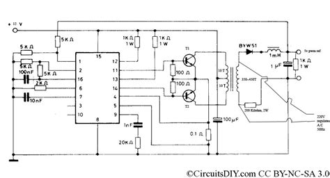 pwm inverter circuit 500 watt low cost circuits diy