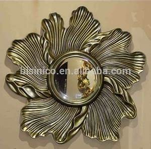 Unique design flower shaped wall hanging mirrorclassical for What kind of paint to use on kitchen cabinets for flower mirror wall art