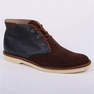 Lacoste Sherbrooke Hi 7 Mens Laced Leather & Suede Desert ...