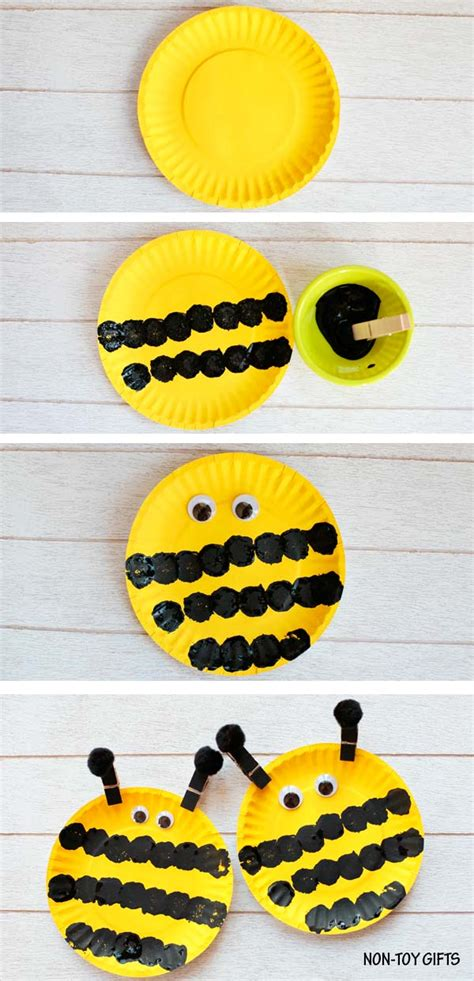 easy paper plate bee craft for 315 | Paper plate bee 1