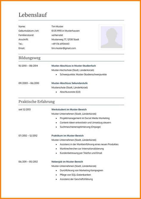 Lebenslauf Vorlage Aktuell by 77 Lebenslauf Muster Und Vorlagen F 252 R 2019 De Mit Vorlage