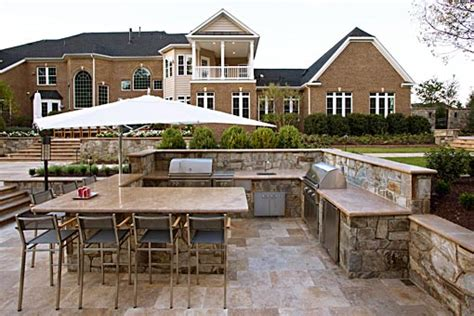 designing a kitchen island with seating outdoor kitchen design grill stations in mclean va