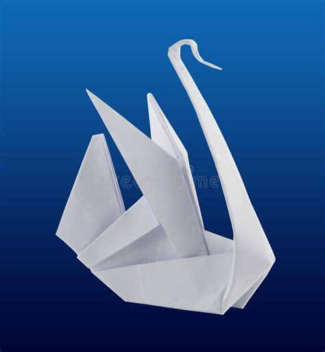 de zwaan van de origami stock illustratie illustratie