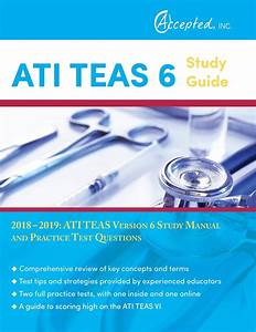 Ati Teas 6 Study Guide 2018