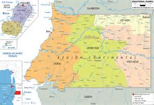 Large detailed administrative map of Equatorial Guinea with cities ... Equatorial Guinea