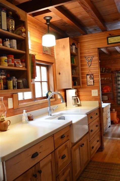 cottage galley kitchen rustic cabin galley kitchen cultivate log home 2635