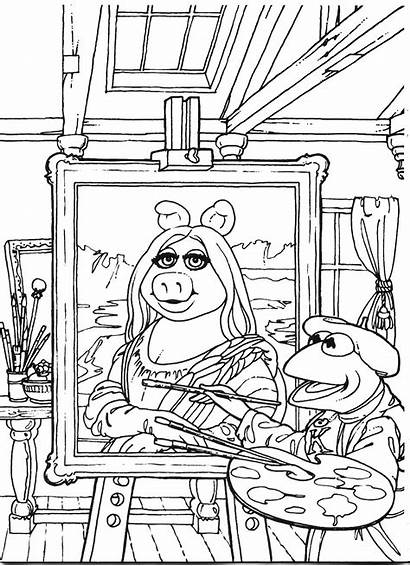 Coloring Pages Muppets Famous Muppet Painting Printables
