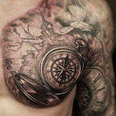 Kompass Tattoo Mann : compass tattoo tattoo ideas pinterest schiff tattoo weltkarte tattoo und kompass ~ Frokenaadalensverden.com Haus und Dekorationen