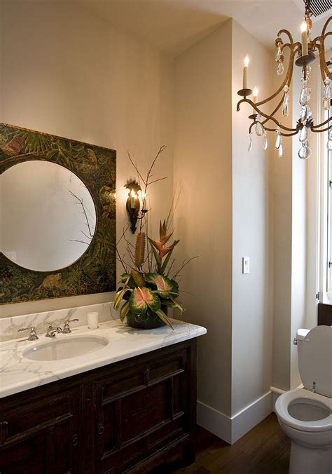 Tropical Mirrors Bathroom by Summer Trend 25 Dashing Powder Rooms With Tropical Flair