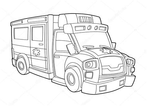 Kleurplaat Maken Illustrator by Ambulance Kleurplaat Stockfoto 169 Illustrator Hft 39980103