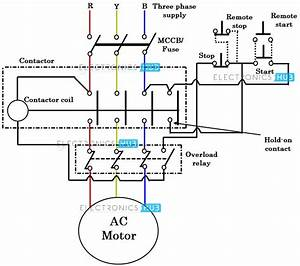 Schematic Wiring Diagram Of Dol Starter