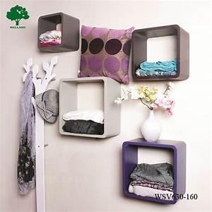 Wall decor wooden cube shelf buy