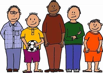 Line Clipart Boys Lineup Young Clip Five