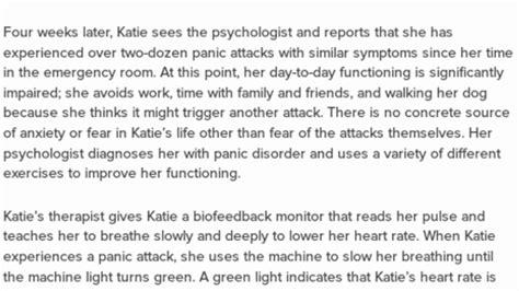 case study  panic disorder   adult female practice