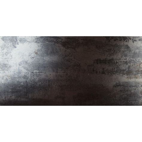 porcelain tile black ms international metallica black 12 in x 24 in glazed porcelain floor and wall tile 16 sq ft