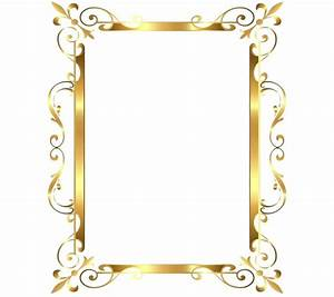 Gold Frame Border Decorative Frame Borders Golden Frame On