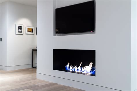 modern fireplace  custom metal firebox
