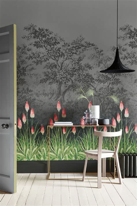 upper brook street   greene midi wallpaper direct
