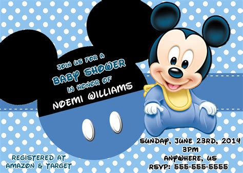 blank mickey mouse baby shower invitations baby shower