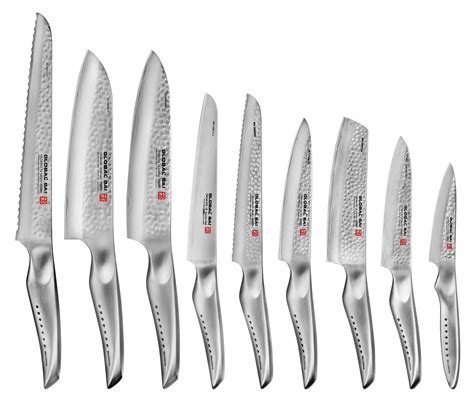 global sai knife set japanese knives  piece cutlery