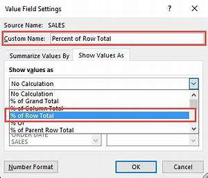 Show The Percent Of Row Total With Excel Pivot Tables