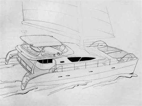 Catamaran Drawing by Sailing Catamaran Rb 60 Drawings Renderings