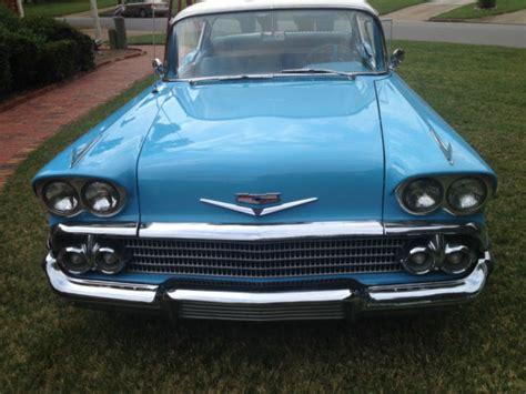 chevrolet bel air  door sports sedan carolina blue