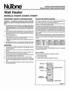 Nutone 9194nt Air Conditioner User Manual