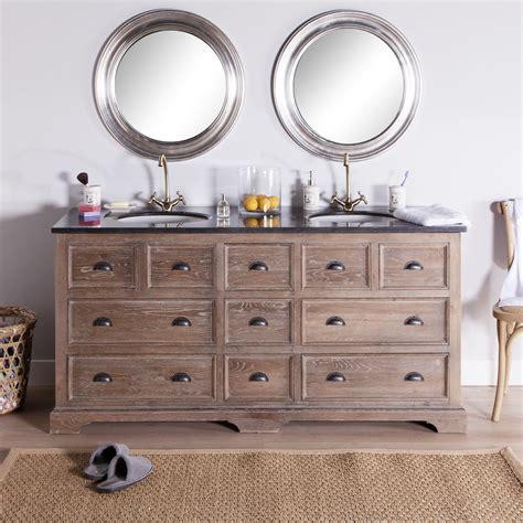 2 vasques le r 234 ve pour la salle de bains meuble vasque en ch 234 ne gris 233 poseidon marque