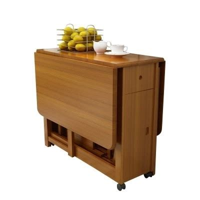 Solid wood dining table folding table simple retractable