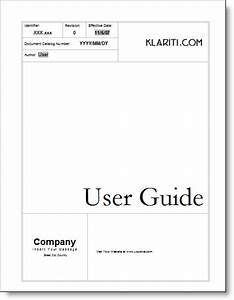 User guide ms word templates tutorials samples download for O and m manual template