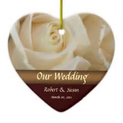 roses wedding favor keepsake christmas ornaments zazzle