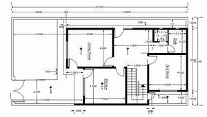 Cad Block Of House Plan Setting Out Detail