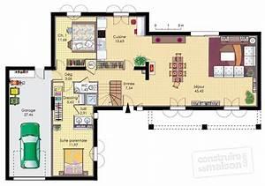 une bastide moderne detail du plan de une bastide With plan d une maison moderne