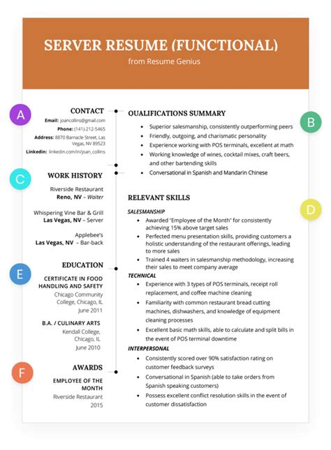 Functional Resume Writing Service by Resume Template Database