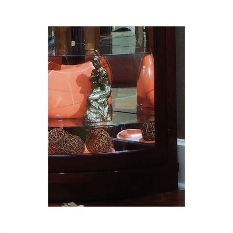 pulaski 20852 corner curio cabinet pulaski chocolate cherry curved corner curio cabinet 20852