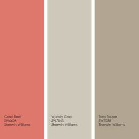 colour palate coral reef worldly gray tony taupe