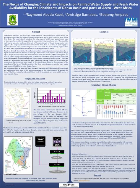 poster  nexus  changing climate  impacts